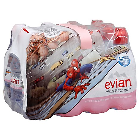 evian Water Natural Spring Spiderman - 12-11.2 Fl. Oz.
