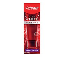 Colgate Optic White Renewal Toothpaste Anticavity Fluoride Enamel Strength - 3 Oz