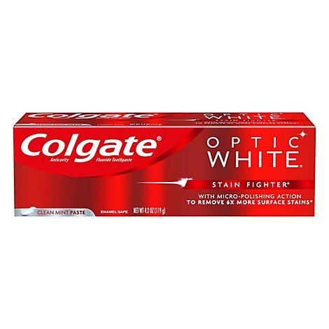 Colgate Optic White Stain Figher - 4.2 Oz