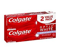 Colgate Optic White Toothpaste Anticavity Fluoride Sparkling White Value Pack - 2-5 Oz