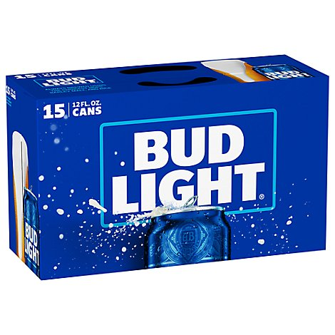 Bud Light In Cans - 15-12 Fl. Oz.