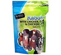 Signature Pet Care Dog Chews Kabob Chicken Beef & Pork - 4 Oz
