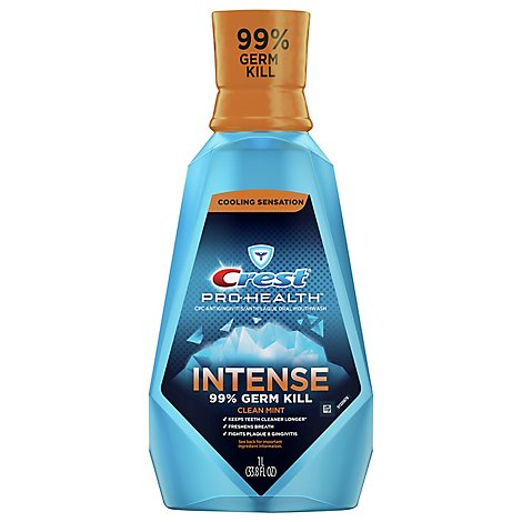 Crest Pro Health Mouthwash Intense Clean Mint - 33.8 Fl. Oz.