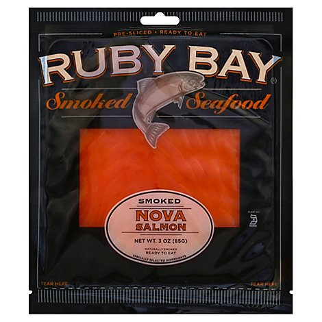 Ruby Bay Smoked Nova Salmon - 3 Oz