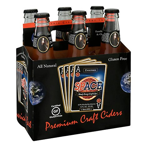 ACE Space Blood Orange Cider In Boittles - 6-12 Fl. Oz.
