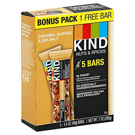Kind Bars Crml Almnd Bonus 5pk - Each