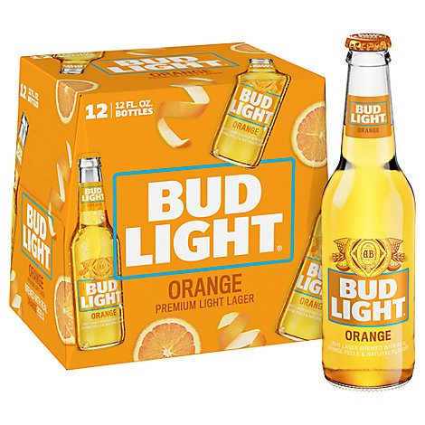 Bud Light Orange In Bottles - 12-12 Fl. Oz.