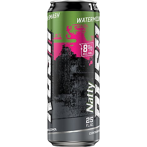 Natty Rush Watermelon Smash In Cans - 25 Fl. Oz.