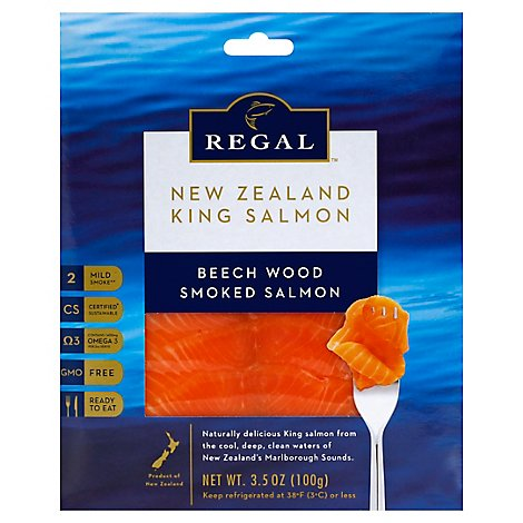 New Zealand King Salmon Smoked Regal Beech Wood - 100 Gram