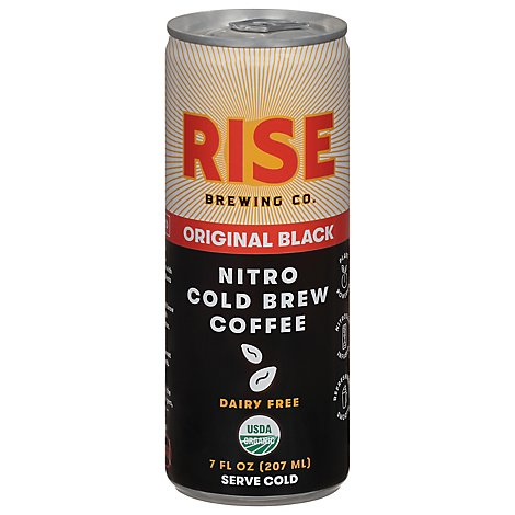 RISE Nitro Cold Brew Coffee Original Black Can - 7 Fl. Oz.
