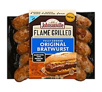Johnsonville Flame Grilled Bratwurst Pork Original Fully Cooked 5 Links - 14 Oz