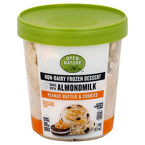 Open Nature Frozen Dessert Almond Milk Peanut Butter Cookie - 1 Pint
