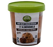 Open Nature Frozen Dessert Almondmilk Chocolate Fudge Brownie - 1 Pint