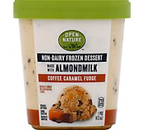 Open Nature Frozen Dessert Almondmilk Coffee Caramel Fudge - 1 Pint