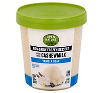 Open Nature Frozen Dessert Cashewmilk Vanilla Bean - 1 Pint