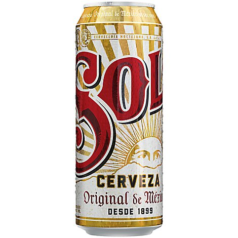 Sol Cerveza Beer Mexican Import 4.5% ABV Can - 24 Fl. Oz.