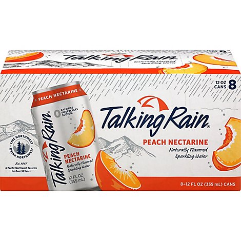Tr Sparkling Water Peach - 8-12 Fl. Oz.