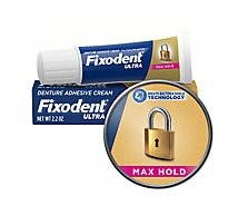Fixodent Dental Adhesive Ultra Max Hold - 2.2 Oz