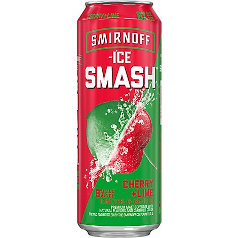 Smirnoff Ice Smash Cherry Lime In Cans - 23.5 Fl. Oz.