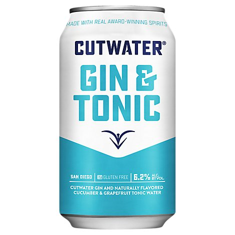 Cutwater Rtd Gin And Tonic Cans - 12 Fl. Oz.