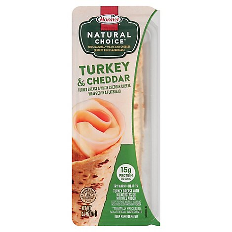 Hormel Natural Choice Wraps Turkey/White Cheddar - 2.7 Oz