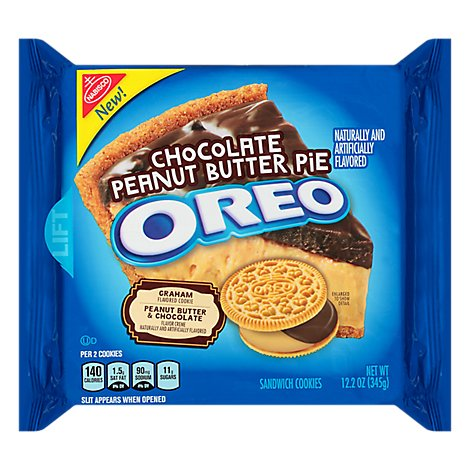 OREO Cookies Sandwich Chocolate Peanut Butter Pie - 12.2 Oz