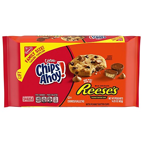 Chips Ahoy With Reeses Peanut Butter Cookies - 14.25 Oz