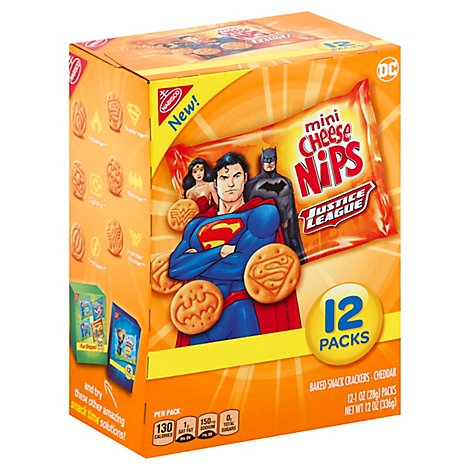 Cheese Nips Crackers Justice League - 12 Oz