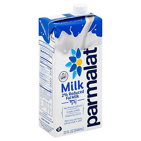 Parmalat Milk 2% Reduced Fat 1 Quart - 32 Fl. Oz.