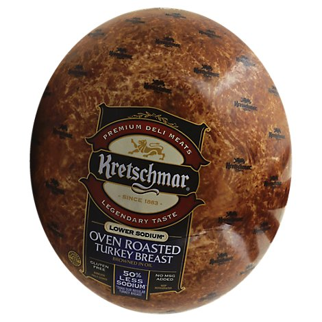 Kretschmar Turkey Breast Oven Roasted Low Sodium - 0.50 LB