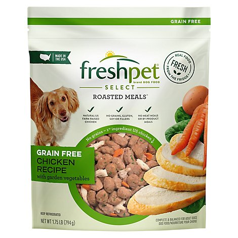 Freshpet Select Dog Food Roasted Meals Grain Free Tender Chicken Recipe Pouch - 1.75 Lb