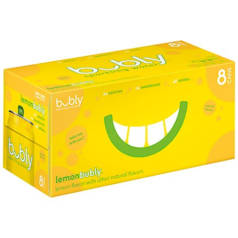 bubly Sparkling Water Lemon Cans - 8-12 Fl. Oz.