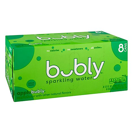 bubly Sparkling Water Apple Cans - 8-12 Fl. Oz.