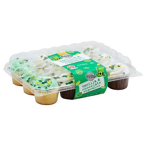 Cupcakes Two-Bite St Patricks Day Assorted - 10 Oz