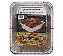 Handi-Foil Pan King Roaster Baker  Extra Deep - 2 Count