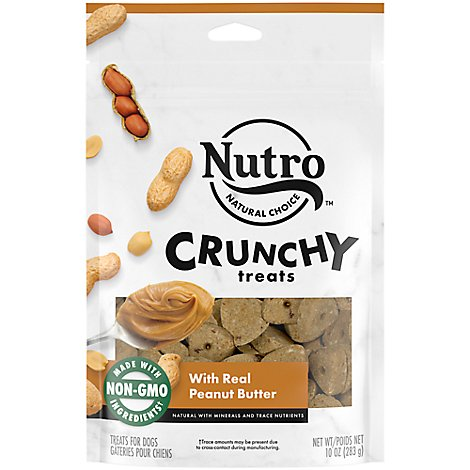 NUTRO Dog Treats Crunchy With Real Peanut Butter - 10 Oz