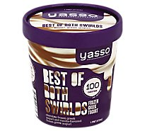 Yasso Frozen Greek Yogurt Fudge Swirl - 16 Oz