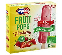 Popsicle Fruit Pops Strawberry - 12 Count