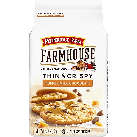 Pepperidge Farm Cookies Toffee Milk Chocolate - 6.9 Oz