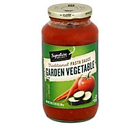 Signature SELECT Pasta Sauce Traditional Garden Vegetable Jar - 25 Oz
