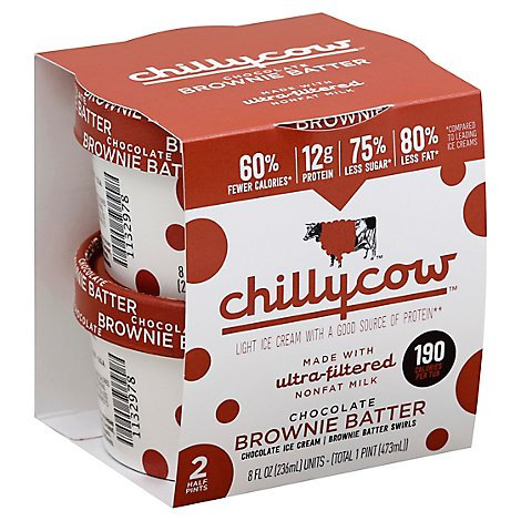 Chillycow Chocolate Brownie Batter - 2-.5 Pint