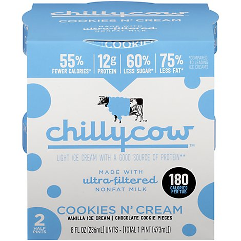 Chillycow Cookies & Cream - 2-.5 Pint