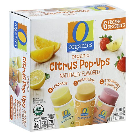 O Organics Pop Ups Citrus - 6-3 Fl. Oz.