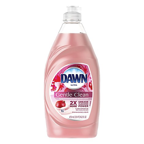 Dawn Ultra Dishwashing Liquid Gentle Clean Pomegranate Splash Scent Bottle - 16.2 Fl. Oz.