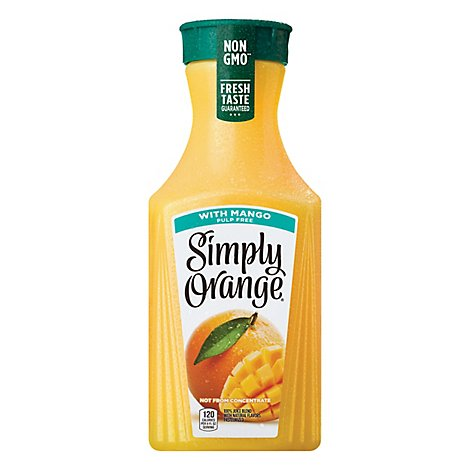 Simply Orange Juice With Mango Pulp Free - 52 Fl. Oz.