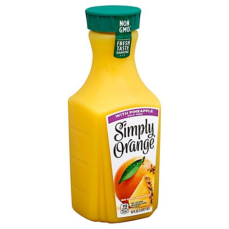 Simply Orange Juice With Pineapple Pulp Free - 52 Fl. Oz.