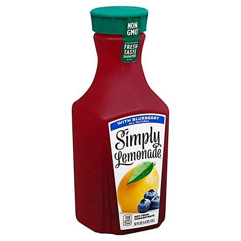 Simply Lemonade Juice All Natural With Blueberry - 52 Fl. Oz.