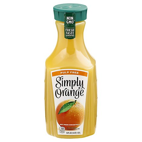 Simply Orange Juice Pulp Free - 52 Fl. Oz.