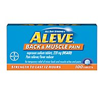 Aleve Back And Muscle Pain Tabs - 100 Count