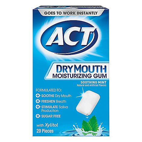 Act Gum Dry Mouth - 20 Count